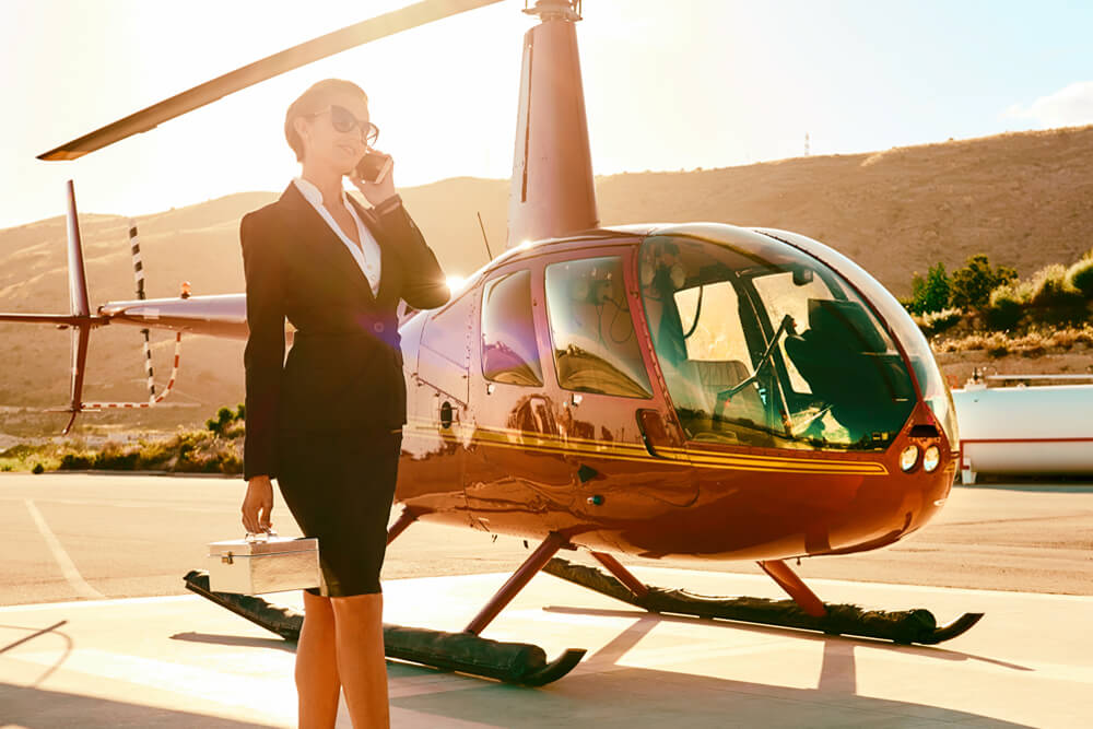 Helicopter Service And Car Transfers